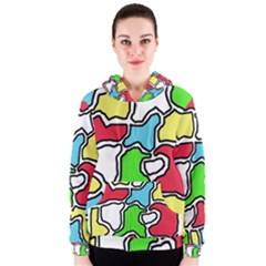 Colorful abtraction Women s Zipper Hoodie