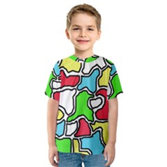 Colorful abtraction Kid s Sport Mesh Tee
