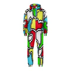 Colorful abtraction Hooded Jumpsuit (Kids)
