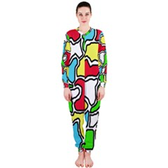 Colorful abtraction OnePiece Jumpsuit (Ladies)