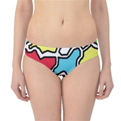 Colorful abtraction Hipster Bikini Bottoms