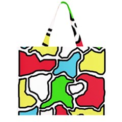 Colorful abtraction Large Tote Bag