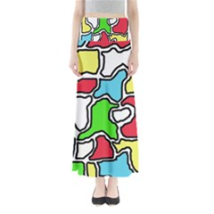 Colorful abtraction Maxi Skirts