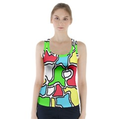 Colorful abtraction Racer Back Sports Top