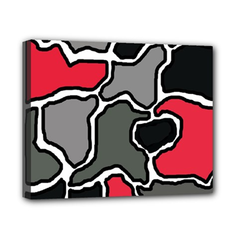 Black, gray and red abstraction Canvas 10  x 8
