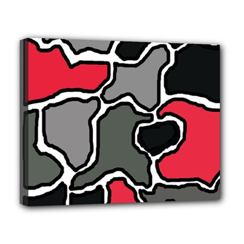 Black, gray and red abstraction Deluxe Canvas 20  x 16