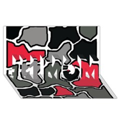 Black, gray and red abstraction #1 MOM 3D Greeting Cards (8x4)