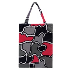Black, gray and red abstraction Classic Tote Bag