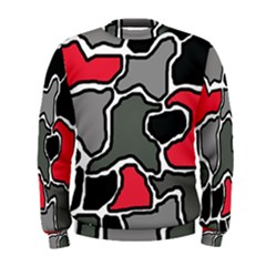 Black, gray and red abstraction Men s Sweatshirt