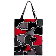 Black, gray and red abstraction Zipper Classic Tote Bag