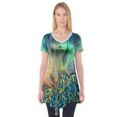Peacock Short Sleeve Tunic