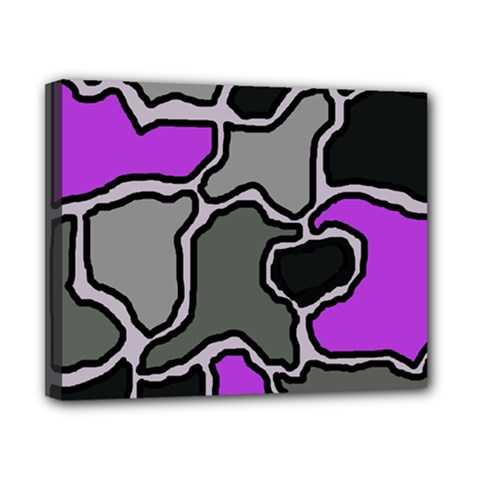 Purple and gray abstraction Canvas 10  x 8