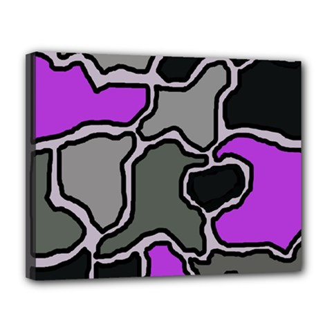 Purple and gray abstraction Canvas 14  x 11