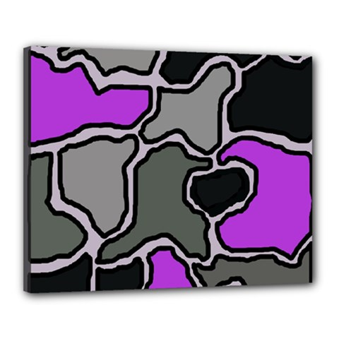 Purple and gray abstraction Canvas 20  x 16