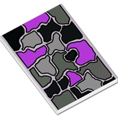 Purple and gray abstraction Large Memo Pads