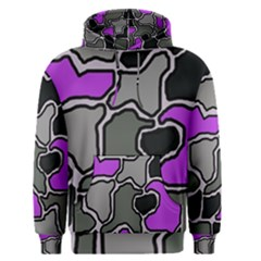 Purple and gray abstraction Men s Pullover Hoodie