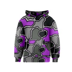 Purple and gray abstraction Kids  Pullover Hoodie