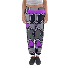 Purple and gray abstraction Women s Jogger Sweatpants