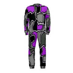 Purple and gray abstraction OnePiece Jumpsuit (Kids)