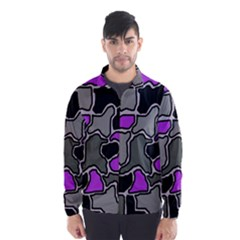 Purple and gray abstraction Wind Breaker (Men)