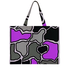 Purple and gray abstraction Large Tote Bag