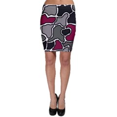 Decorative abstraction Bodycon Skirt