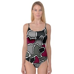 Decorative abstraction Camisole Leotard