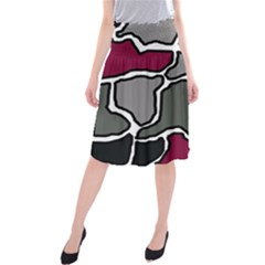 Decorative Abstraction Midi Beach Skirt