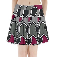 Decorative abstraction Pleated Mini Mesh Skirt