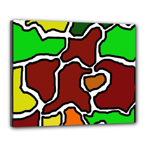 Africa abstraction Canvas 20  x 16
