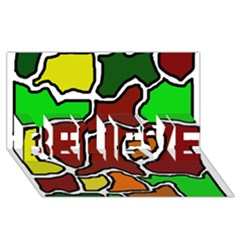 Africa abstraction BELIEVE 3D Greeting Card (8x4)