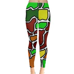 Africa abstraction Leggings