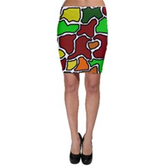 Africa abstraction Bodycon Skirt