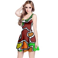 Africa abstraction Reversible Sleeveless Dress