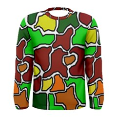 Africa abstraction Men s Long Sleeve Tee