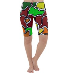 Africa Abstraction Cropped Leggings