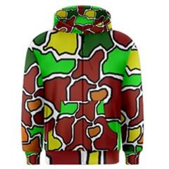Africa abstraction Men s Zipper Hoodie