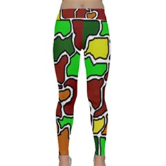 Africa abstraction Yoga Leggings