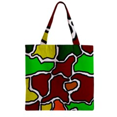Africa abstraction Zipper Grocery Tote Bag