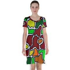 Africa abstraction Short Sleeve Nightdress