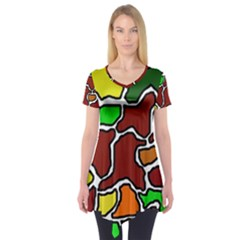 Africa abstraction Short Sleeve Tunic