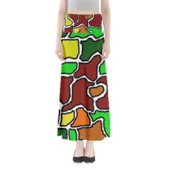 Africa abstraction Maxi Skirts