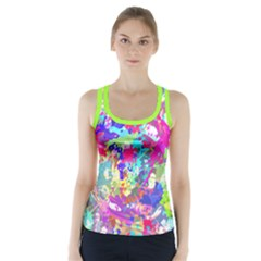 watercolor2 Racer Back Sports Top