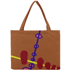 Brown abstraction Mini Tote Bag