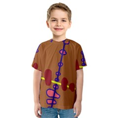 Brown abstraction Kid s Sport Mesh Tee