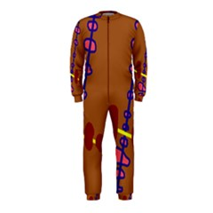 Brown abstraction OnePiece Jumpsuit (Kids)