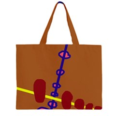 Brown abstraction Large Tote Bag