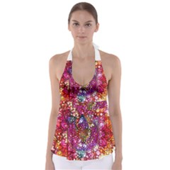 Distressed Mandala Babydoll Tankini Top