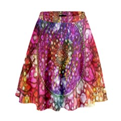 Distressed Mandala High Waist Skirt
