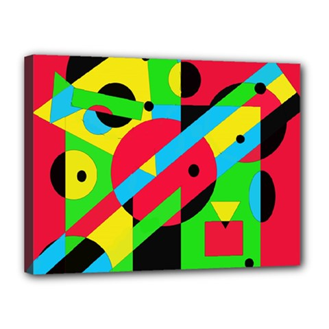 Colorful geometrical abstraction Canvas 16  x 12